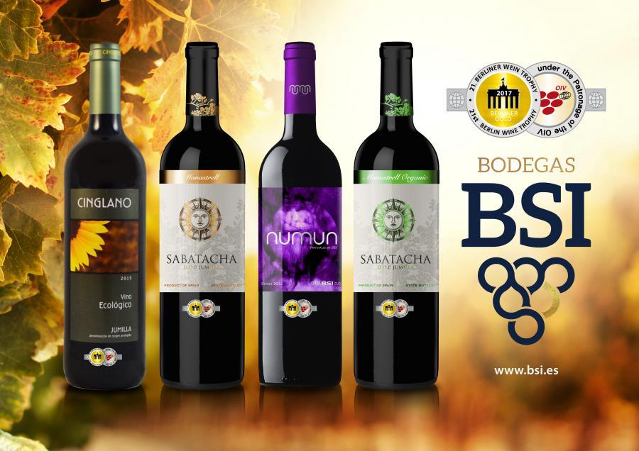 Vinos Vinos Bodegas BSI viste de oro sus vinos de Monastrell y Syrah en Berlín