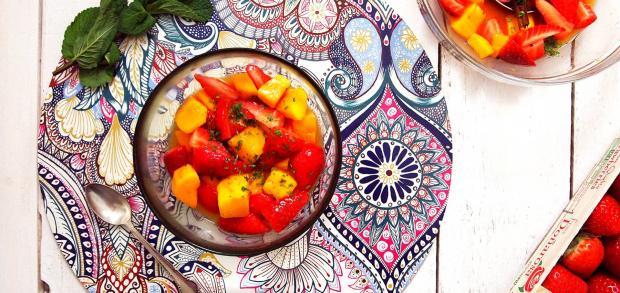 Recetas Recetas Ensalada especiada de fresas y mango