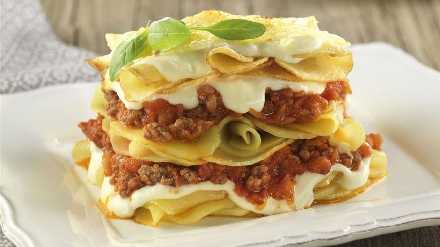 Recetas Recetas Lasaña de patatas y carne de ternera