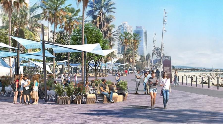 Actualidad Actualidad Restaurantes de la Barceloneta proponen un diseño para sus terrazas